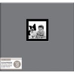 K and Company - 12 x 12 Scrapbook Window Album - Fabric - Gray