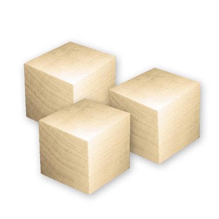 Lara's Crafts - Wood Blocks - 3.5 Inches - Set of 3