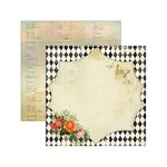 Marion Smith Designs - Junque Gypsy Collection - 12 x 12 Double Sided Paper - Nota Bene
