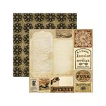 Marion Smith Designs - Time Keeper Collection - 12 x 12 Double Sided Paper - Tinker