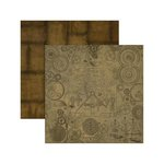 Marion Smith Designs - Time Keeper Collection - 12 x 12 Double Sided Paper - Cogs and Gears