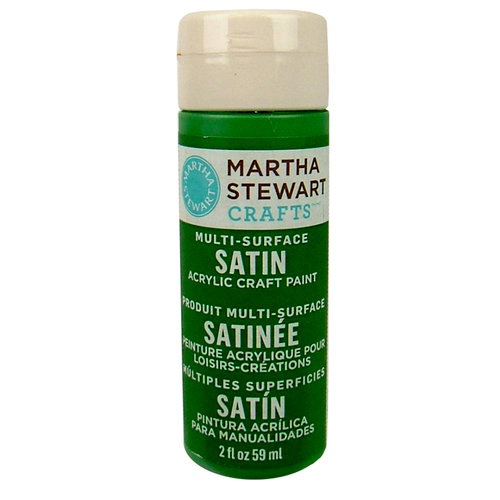 Martha Stewart Crafts - Paint - Satin Finish - Pesto - 2 Ounces