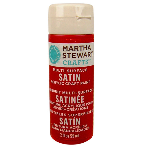 Martha Stewart Crafts - Paint - Satin Finish - Tartan Red - 2 Ounces