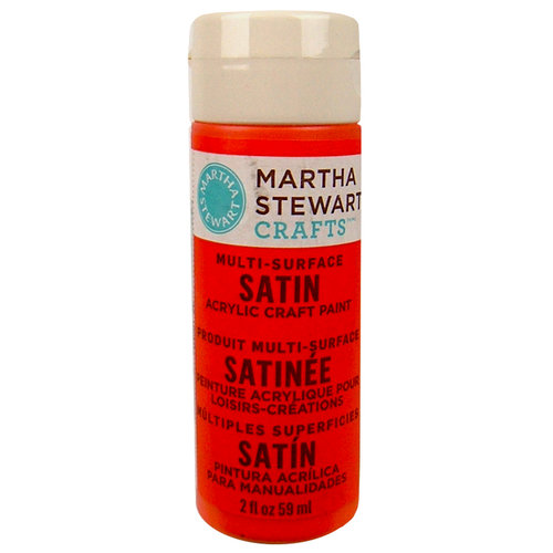 Martha Stewart Crafts - Paint - Satin Finish - Geranium - 2 Ounces