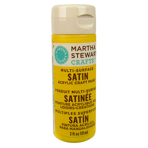 Martha Stewart Crafts - Paint - Satin Finish - Yellow Jacket - 2 Ounces