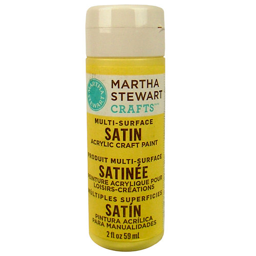 Martha Stewart Crafts - Paint - Satin Finish - Jonquil - 2 Ounces