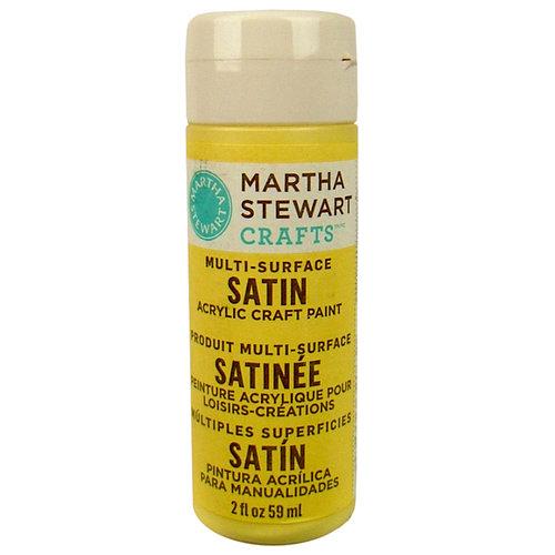 Martha Stewart Crafts - Paint - Satin Finish - Jonquil - 2 Ounces