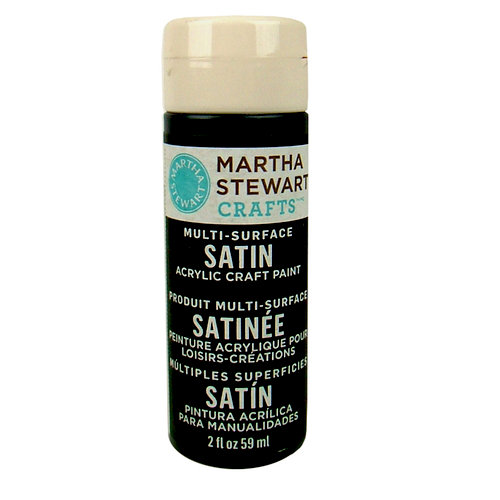 Martha Stewart Crafts - Paint - Satin Finish - Beetle Black - 2 Ounces