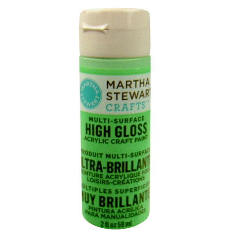 Martha Stewart Crafts - Paint - High Gloss Finish - Pea Shoot - 2 Ounces
