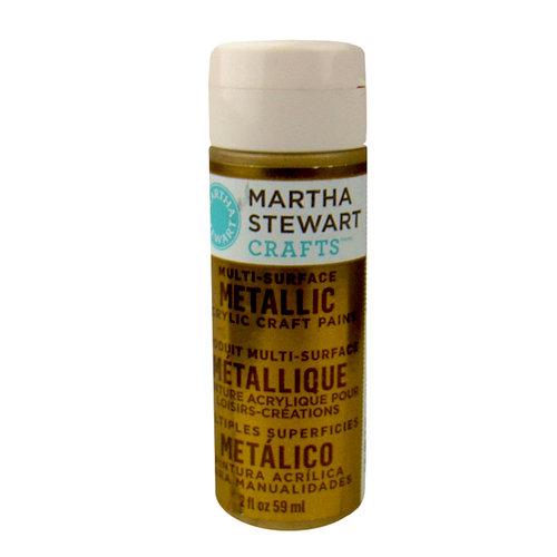Martha Stewart Crafts - Paint - Metallic Finish - Gold - 2 Ounces