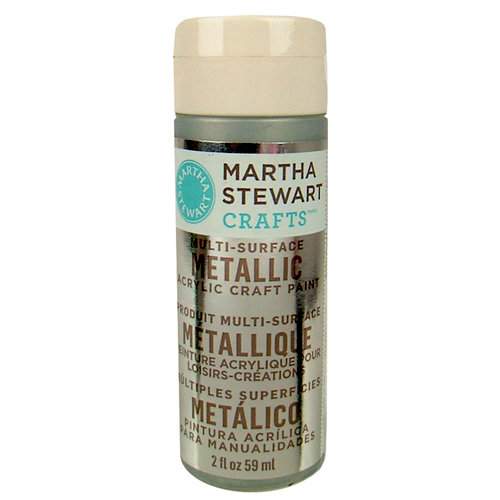 Martha Stewart Crafts - Paint - Metallic Finish - Sterling - 2 Ounces