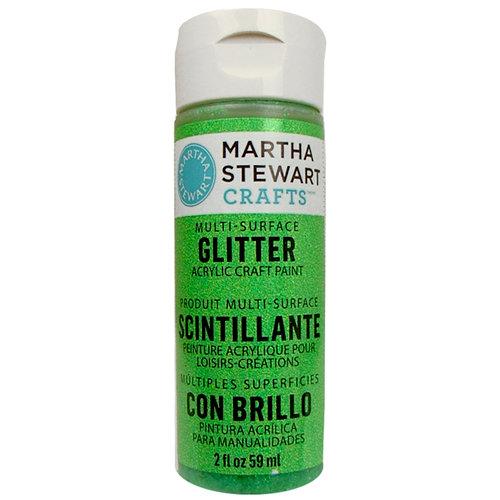 Martha Stewart Crafts - Paint - Glitter Finish - Sour Apple - 2 Ounces
