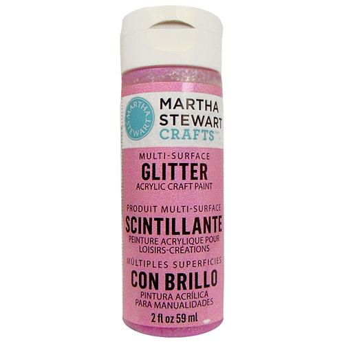 Martha Stewart Crafts - Paint - Glitter Finish - Bubble Gum - 2 Ounces