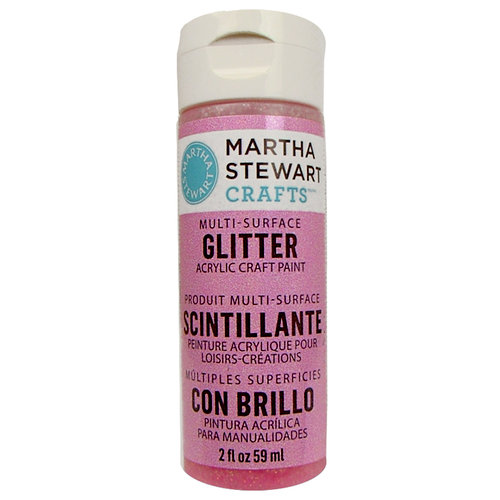 Martha Stewart Crafts - Paint - Glitter Finish - Cotton Candy - 2 Ounces