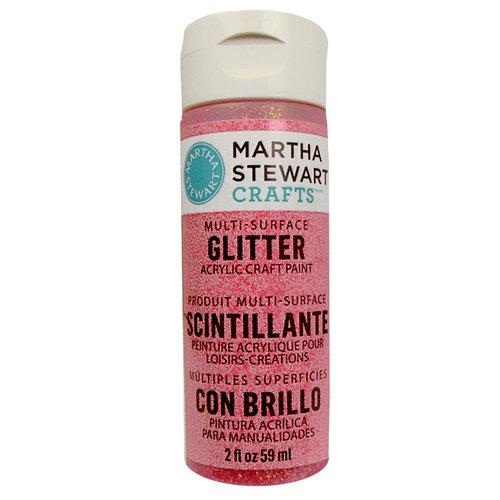 Martha Stewart Crafts - Paint - Glitter Finish - Candy Apple - 2 Ounces