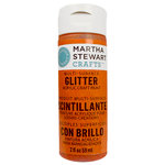 Martha Stewart Crafts - Paint - Glitter Finish - Orange Sorbet - 2 Ounces