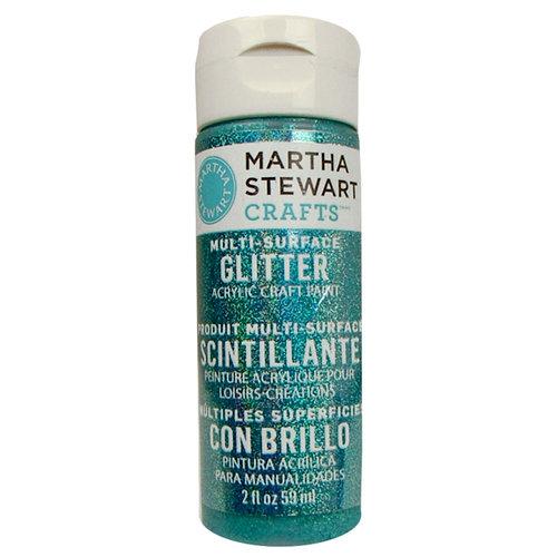Martha Stewart Crafts - Paint - Glitter Finish - Turquoise - 2 Ounces