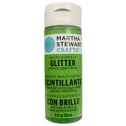 Martha Stewart Crafts - Paint - Glitter Finish - Peridot - 2 Ounces