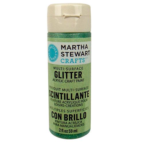 Martha Stewart Crafts - Paint - Glitter Finish - Aquamarine Crystal - 2 Ounces