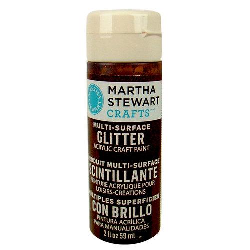Martha Stewart Crafts - Paint - Glitter Finish - Brownstone - 2 Ounces