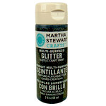 Martha Stewart Crafts - Paint - Glitter Finish - Onyx - 2 Ounces