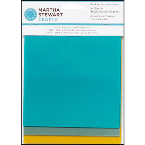 Martha Stewart Crafts - Flocking Transfer Sheets - Seaside
