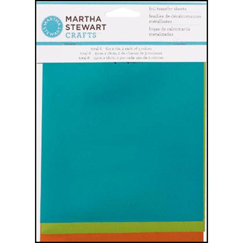Martha Stewart Crafts - Foil Transfer Sheets - Mediterranean
