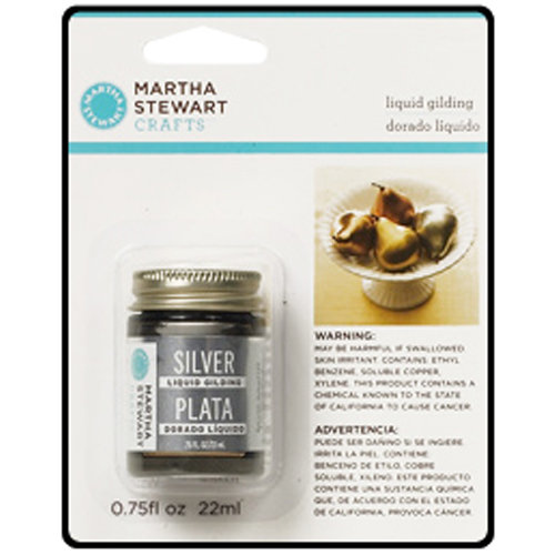 Martha Stewart Crafts - Paint - Liquid Gilding - Silver
