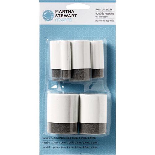 Martha Stewart Crafts - Tools - Foam Pouncers - 6 Piece Set