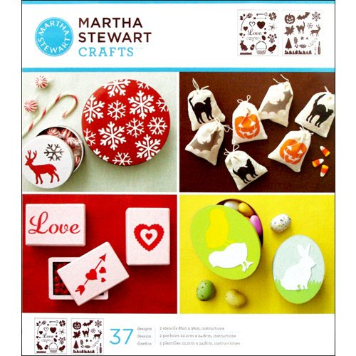 Martha Stewart Crafts - Stencil - Medium - Holiday Icons
