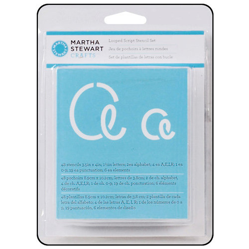 Martha Stewart Crafts - Alphabet Stencil - Looped Script