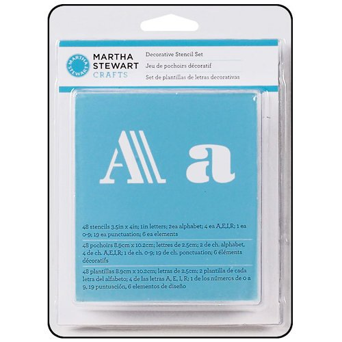 Martha Stewart Crafts - Alphabet Stencil - Decorative