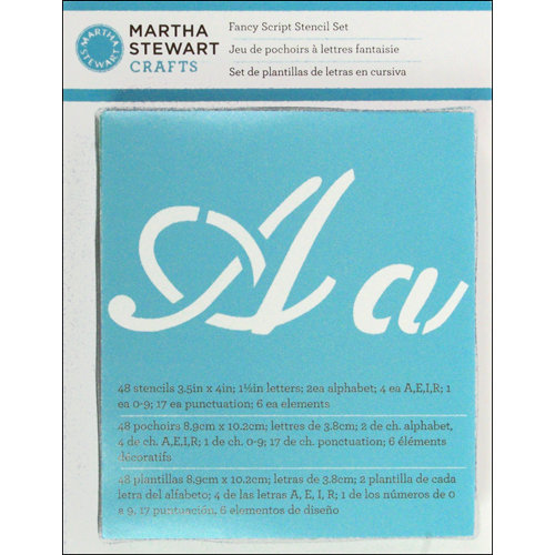 Martha Stewart Crafts - Alphabet Stencil - Fancy Script