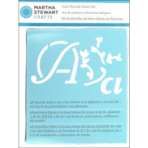 Martha Stewart Crafts - Alphabet Stencil - Italic Flourish