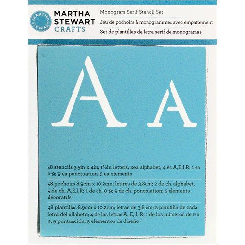 Martha Stewart Crafts - Alphabet Stencil - Monogram Serif