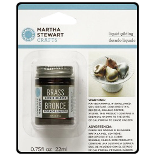 Martha Stewart Crafts - Paint - Liquid Gilding - Brass