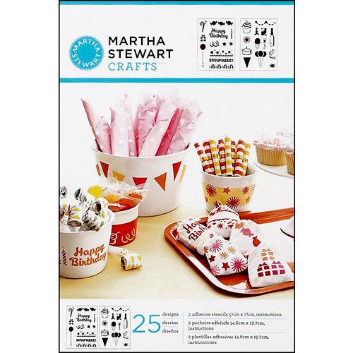 Martha Stewart Crafts - Adhesive Stencil - Birthday Cheers