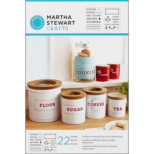 Martha Stewart Crafts - Adhesive Stencil - Kitchen Labels