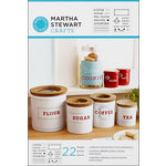 Martha Stewart Crafts - Adhesive Stencil - Kitchen Labels