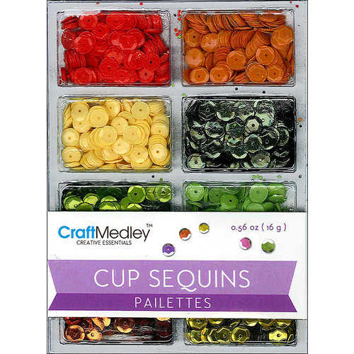 Multi Craft - Cup Sequins - Citrus - 7mm