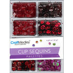 Multi Craft - Cup Sequins - Rouge - 7mm