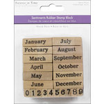 Multi Craft - Rubber Stamp Pack - Calendar