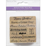 Multi Craft - Rubber Stamp Pack - Happy Birthday