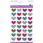 Multi Craft - Puffy Stickers - Safari Hearts