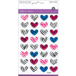 Multi Craft - Puffy Stickers - Zebra Heart Medley