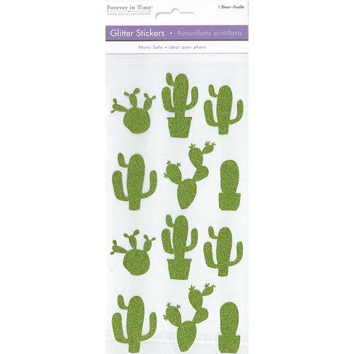 Multi Craft - Stickers - Glitter - Cactus