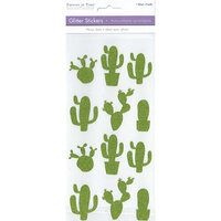 Multi Craft - Stickers - Glitter - Cactus