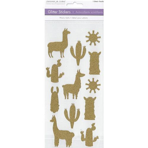 Multi Craft - Stickers - Glitter - Llama