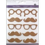 Multi Craft - Cork Stickers - Element - Shades and Staches