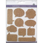 Multi Craft - Cork Stickers - Element - Thought Balloons